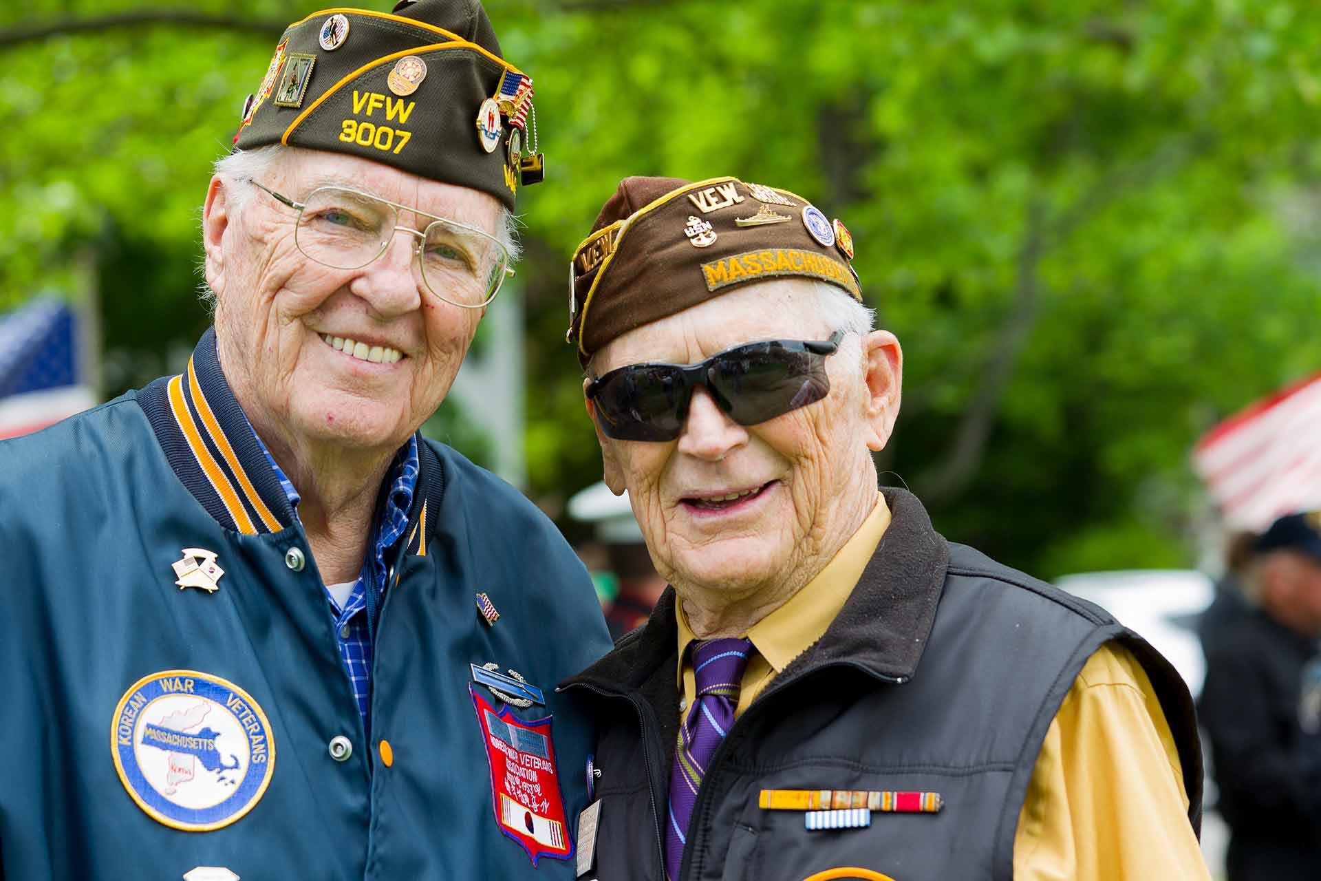Image of proud veterans